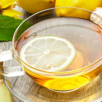 Why drink ginger and lemon tea at night?